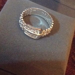Jewelry - Beautiful 925 sterling silver mesh buckle ring